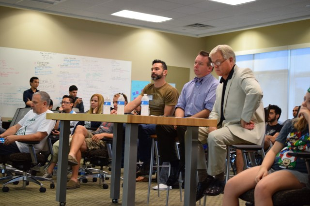 Orlando Startup Weekend Education SWORLEDU Judges including Carlos Carbonell, TD Haines, Dr Sandy Shugart