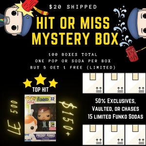 Hit or Miss Funko Mystery Box