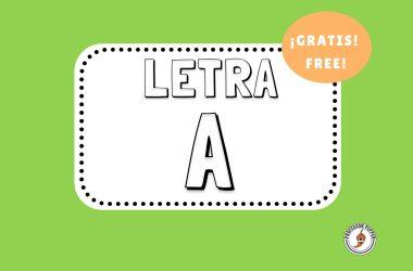 Letra A Printable