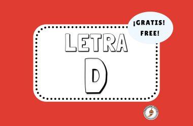 Letra D Free Printable