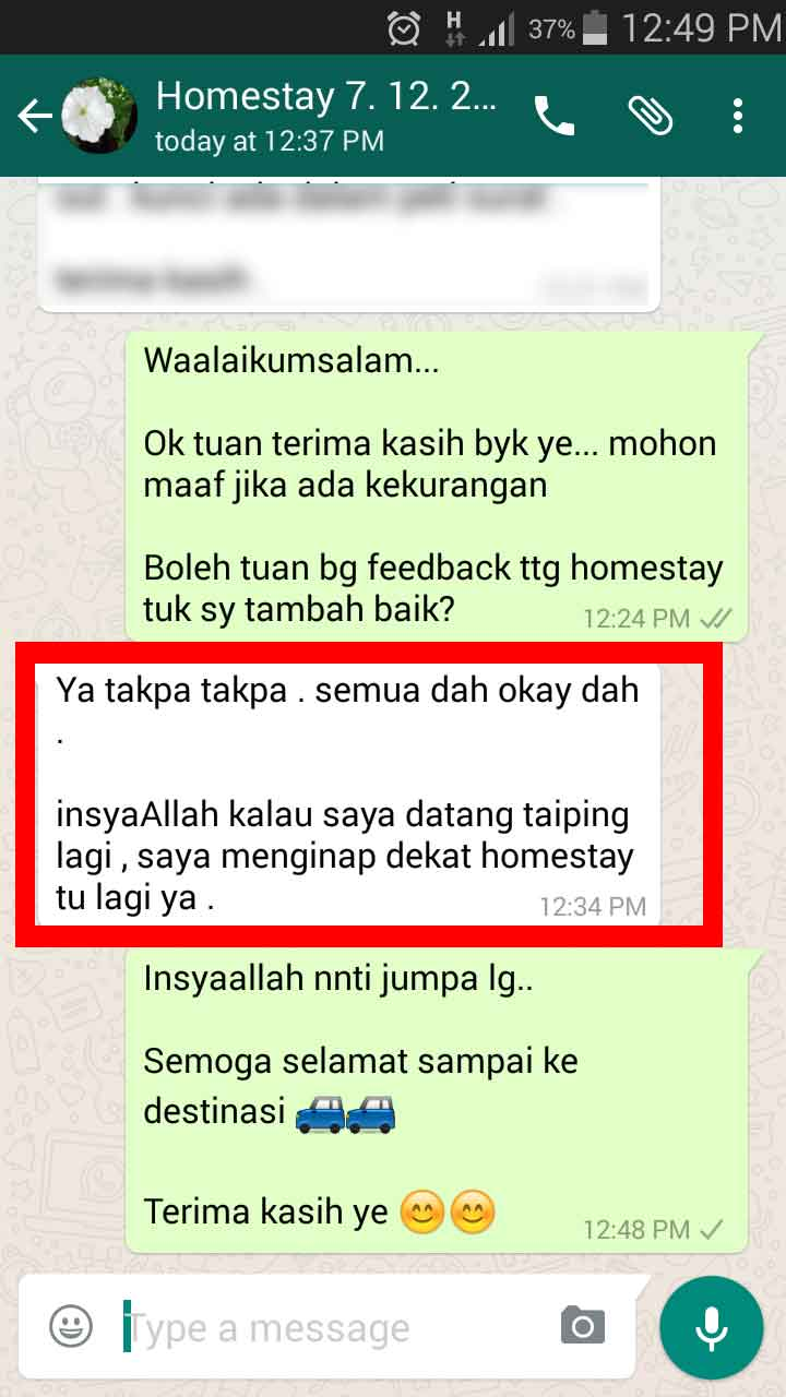 Homestay di taiping murah 2