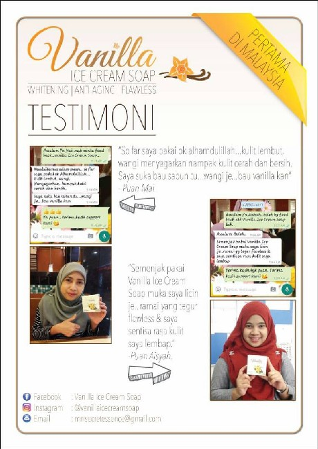 testimoni-Vanilla Ice Cream Soap