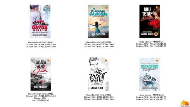 Beli Buku Novel Murah Secara Online Dengan Diskaun
