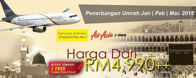 promosi umrah 2018 2019 serendah rm4990 di seremban terbaik dan murah