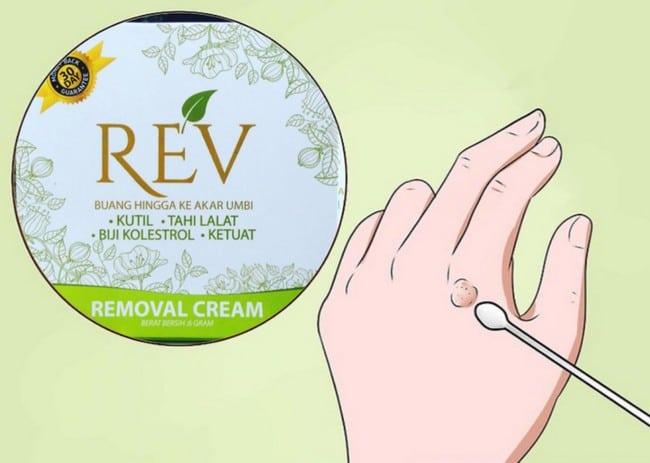 cara penggunaan rev removal cream