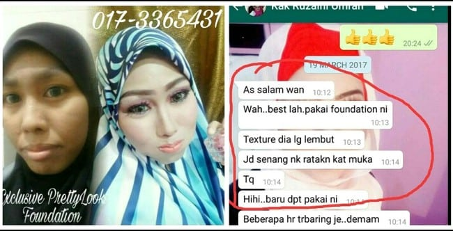 testimoni pengguna lookpretty foundation