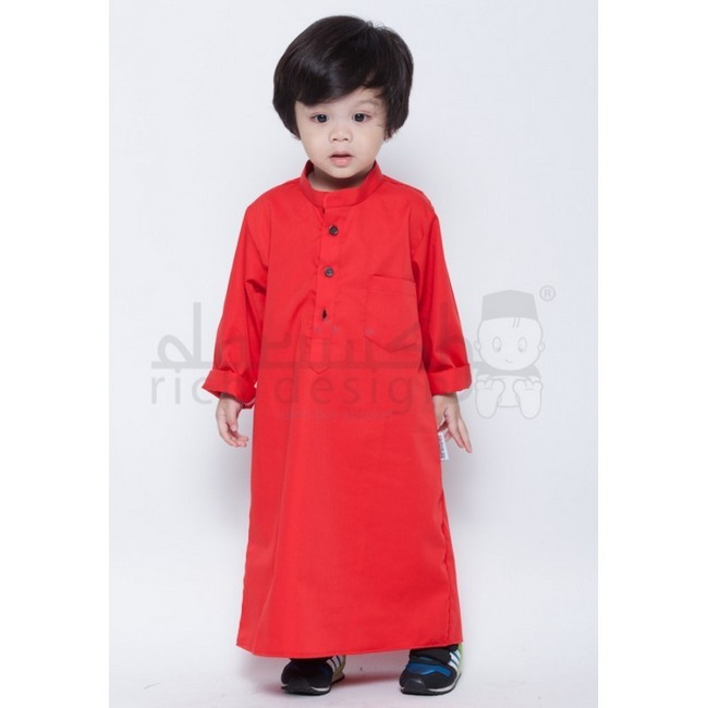 jubah red kanak kanak