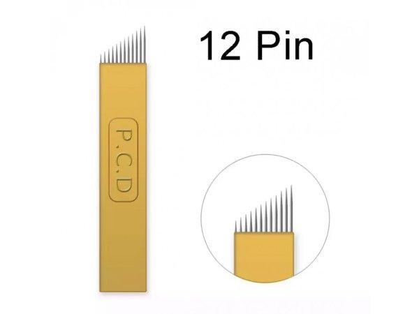 Linkovací sterilní jehla čepel 12 Pin - 0,18 mm - 1 ks
