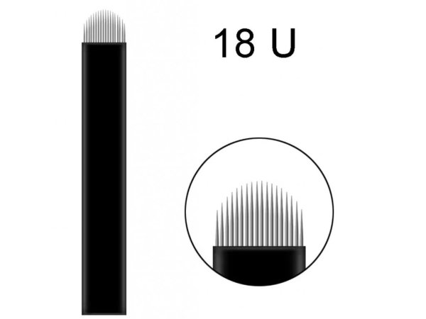 1 ks Linkovací sterilní jehla čepel 18U - 0,18 mm pro ruční tetovací strojek permanentní MAKEUP