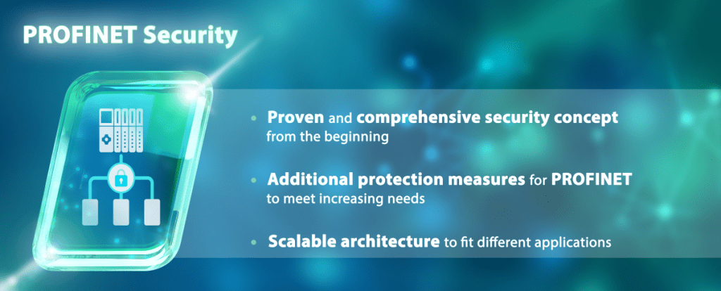 Additional security measures supplement the proven IT security concept for PROFINET