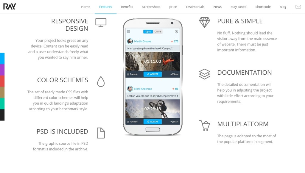 Landing Page WordPress Templates for Apps-2015