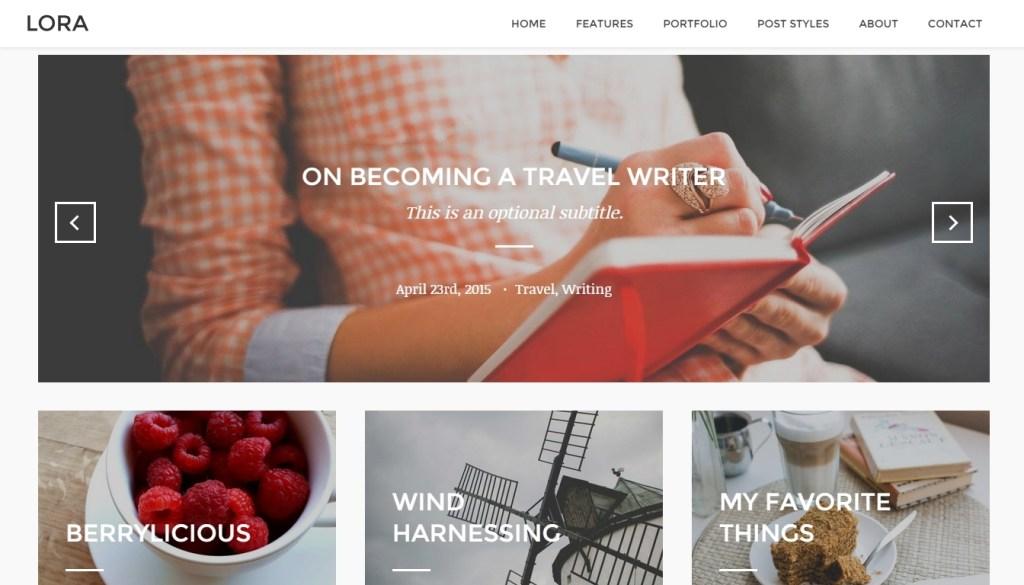 Feminine WordPress Themes-2015
