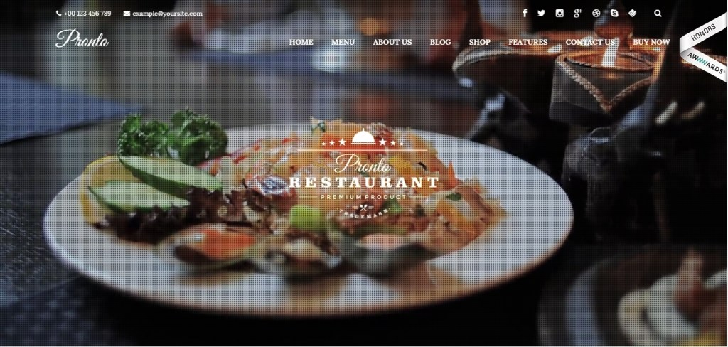 Premium WordPress Restaurant Themes