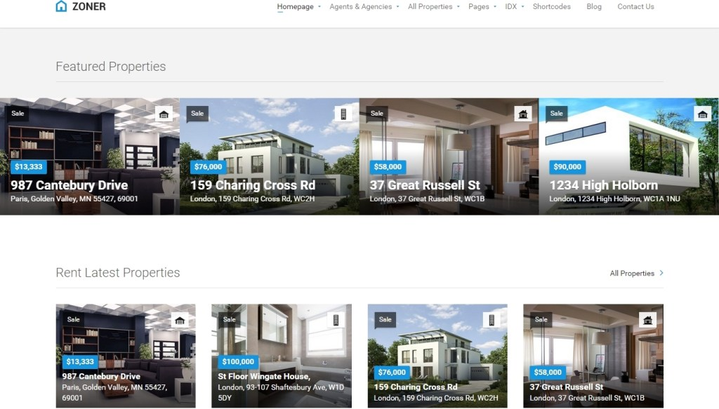 Real Estate WordPress Themes