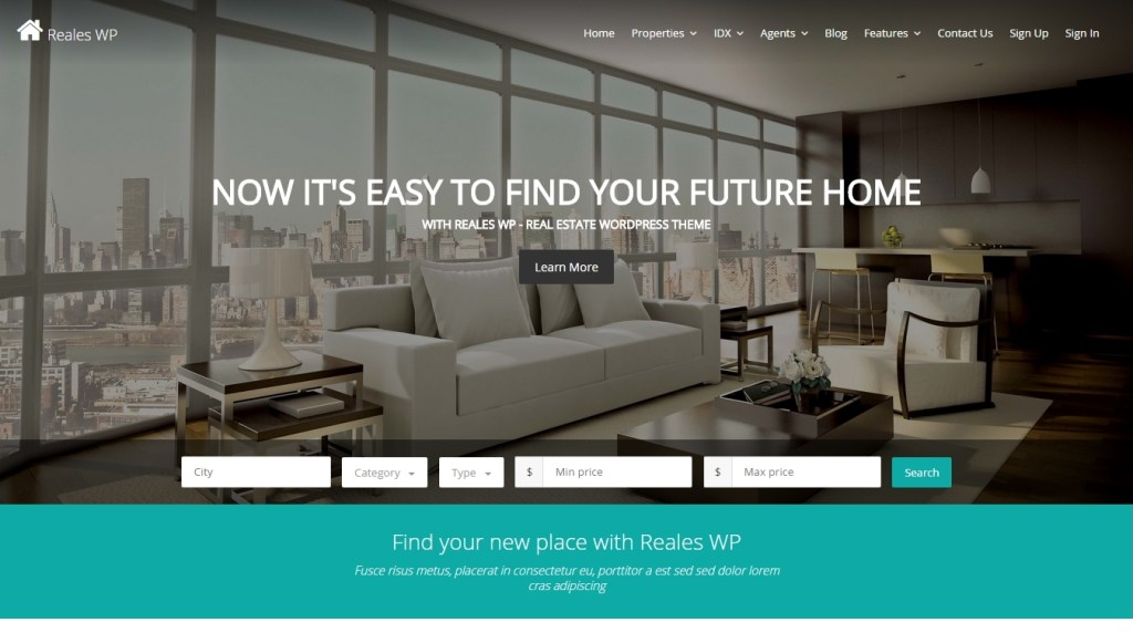 Real Estate WordPress Theme 2015