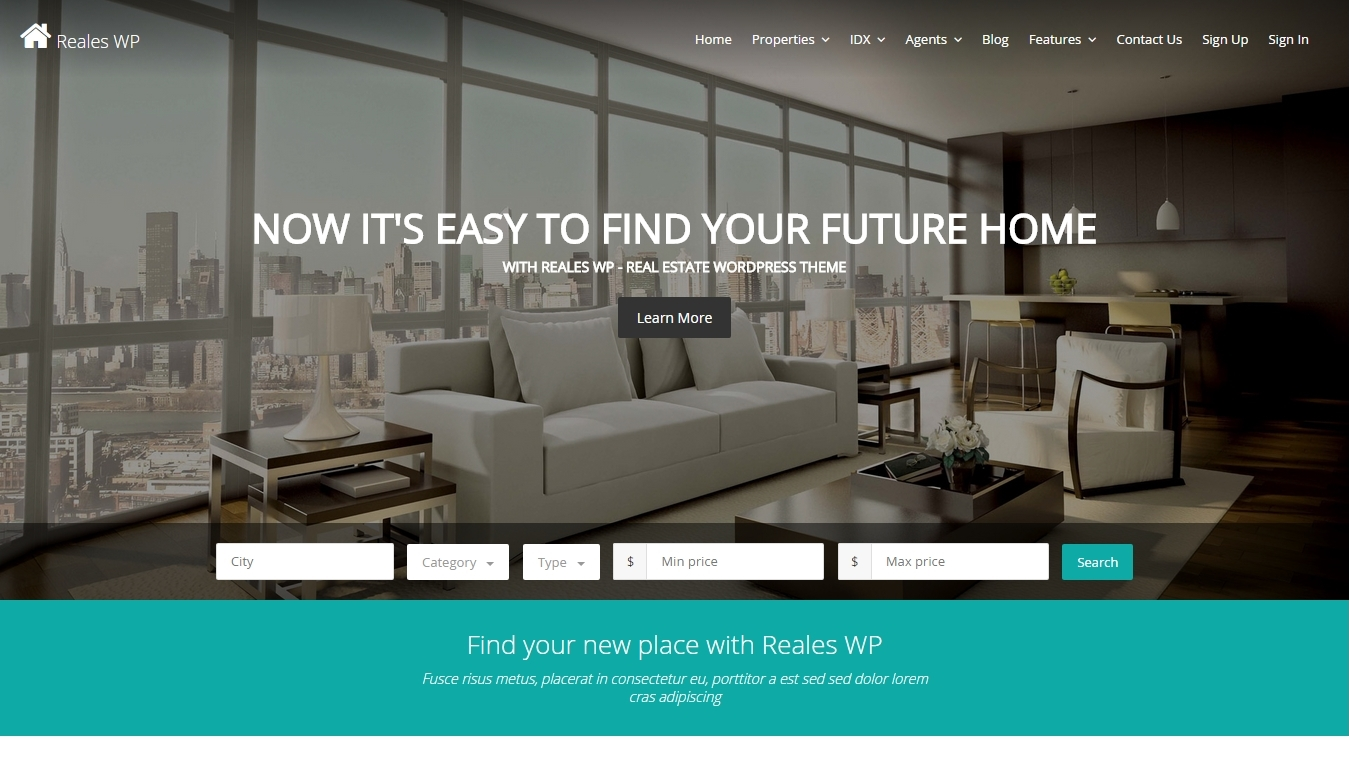 Modern Real Estate Wordpress Themes 2015