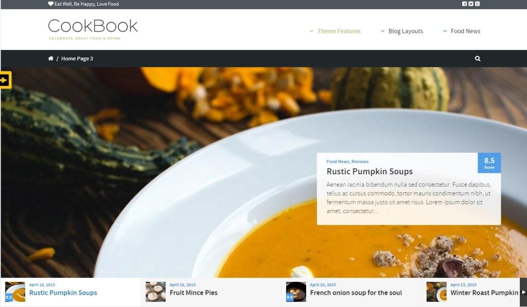Food and Recipes WordPress Themes 2015