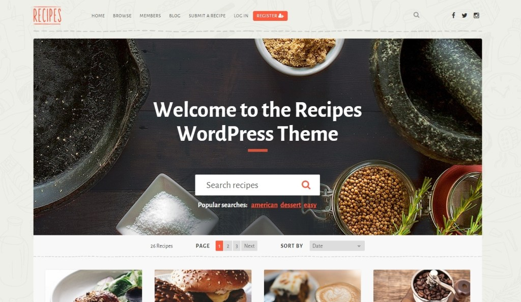 Best Food and Recipes WordPress Themes 2016