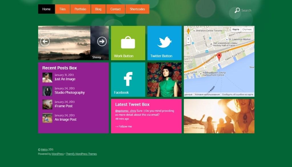 WordPress Metro Style Theme