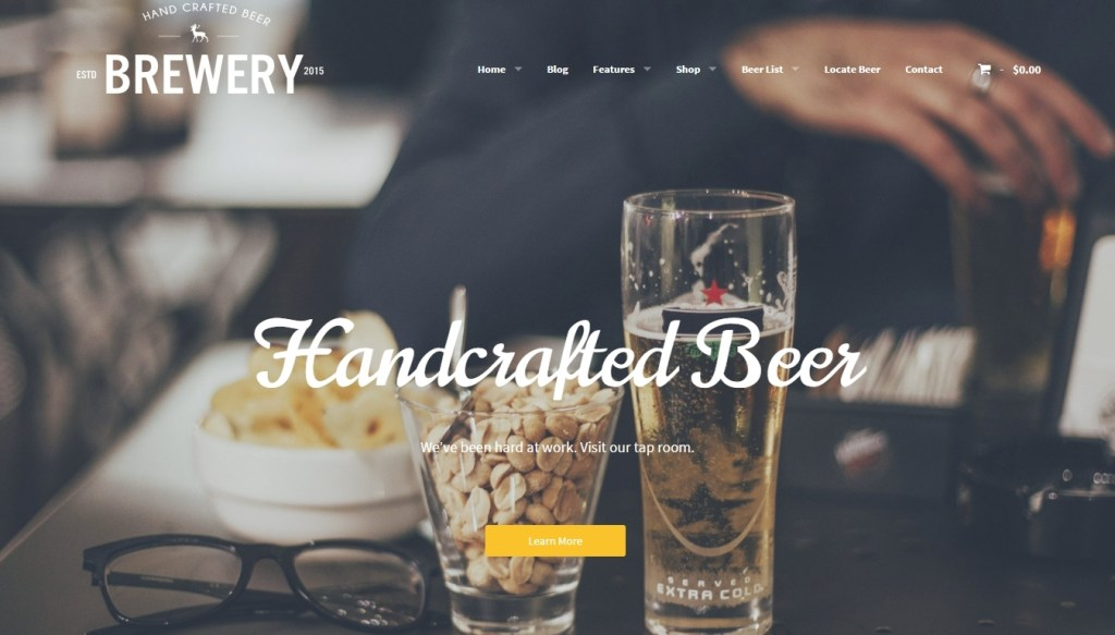 WordPress themes for breweries, homebrewers and beer aficionados