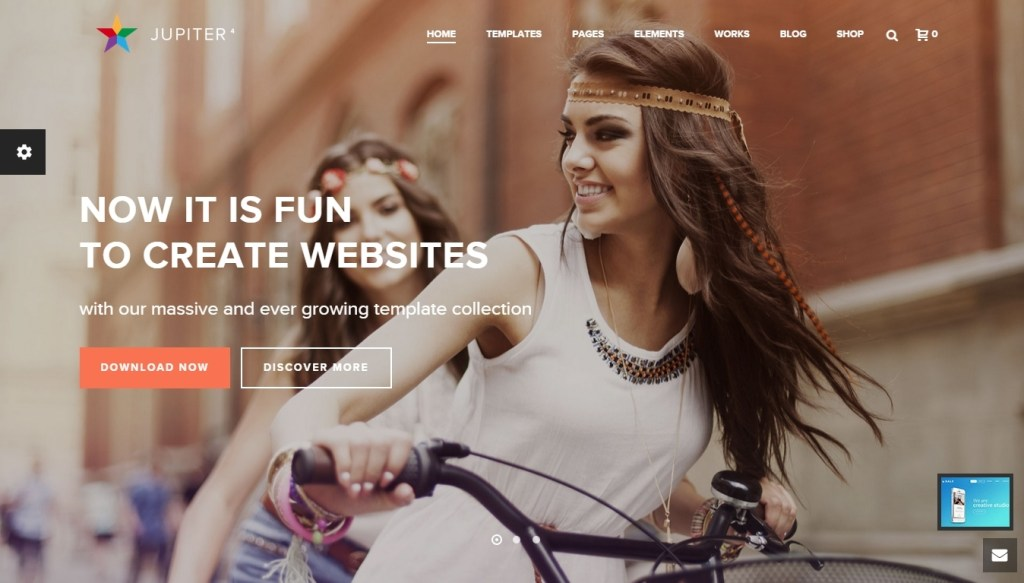 Multipurpose WordPress Parallax Themes