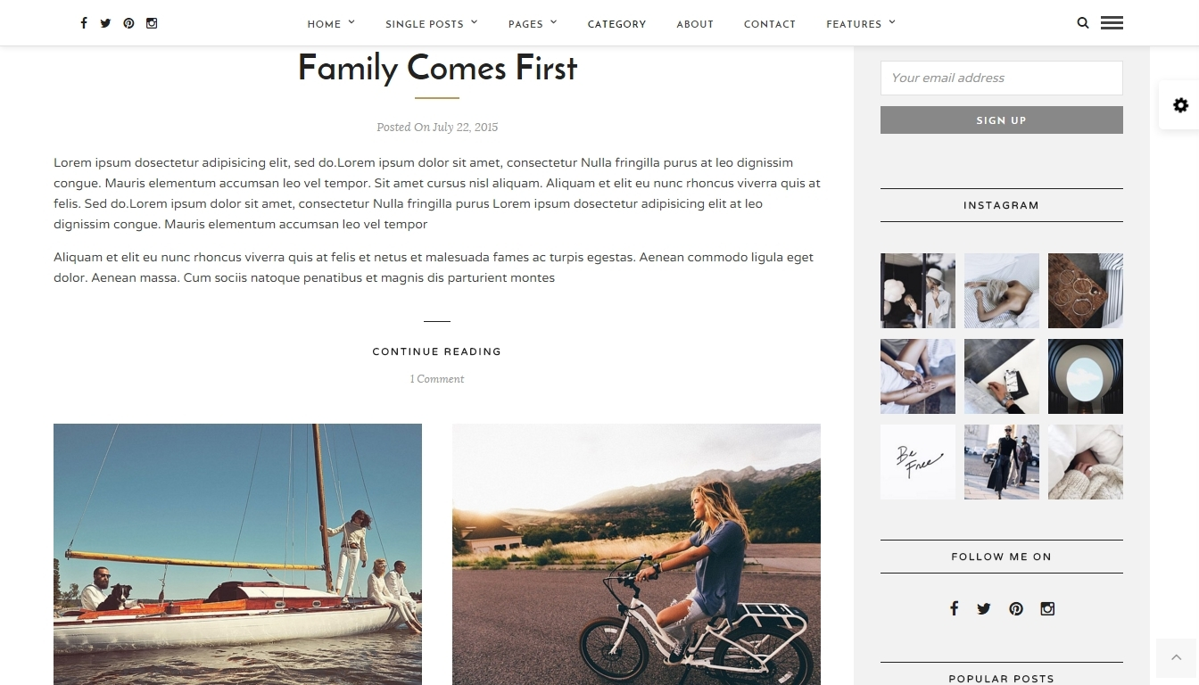 Best WordPress blog template