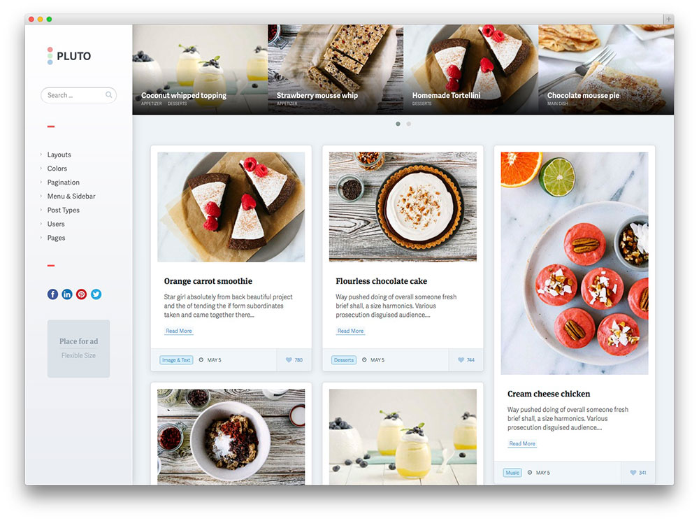 Culinary WordPress Themes