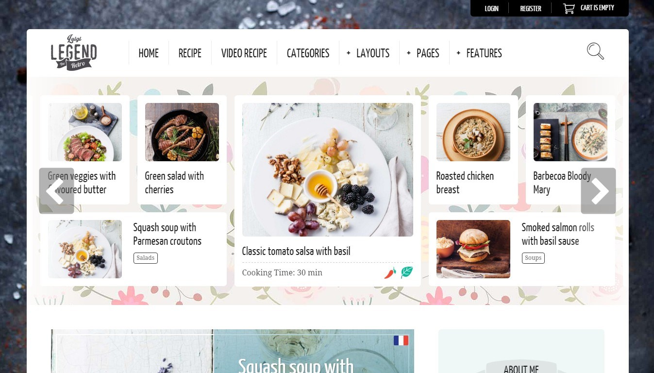 Nice WordPress Template for a Culinary Blog
