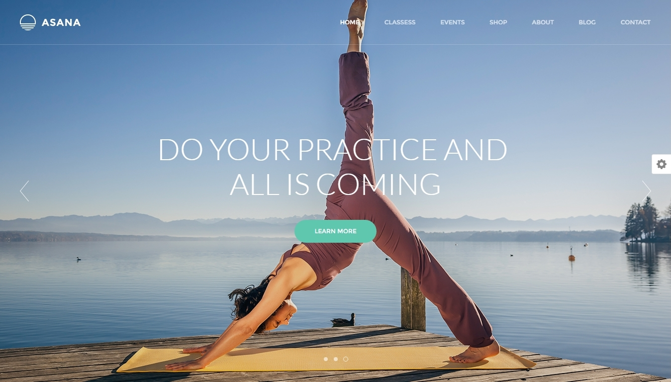 Responsive WordPress themes for yoga and other sports websites