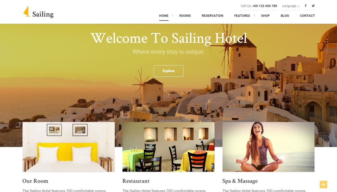 Wordpress hotel themes - premium