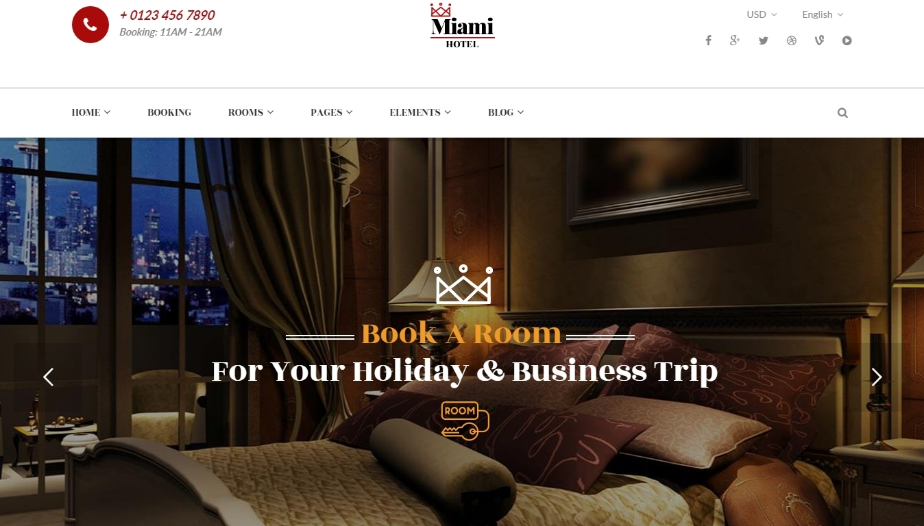 best WordPress hotel themes 2016