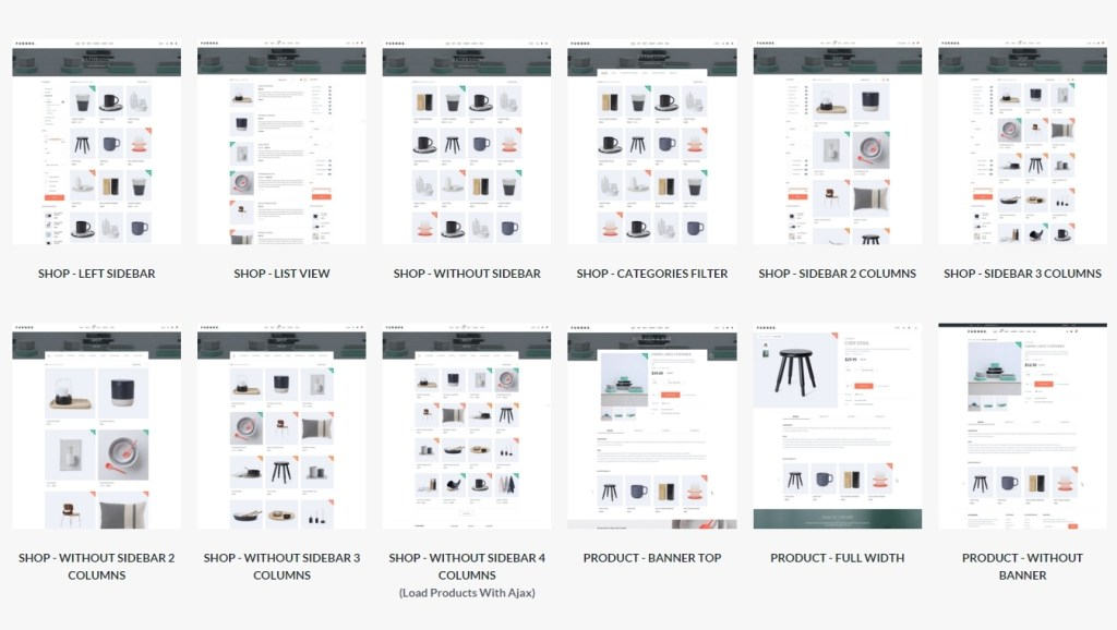 Wordpress Ecommerce 500 templates for online store