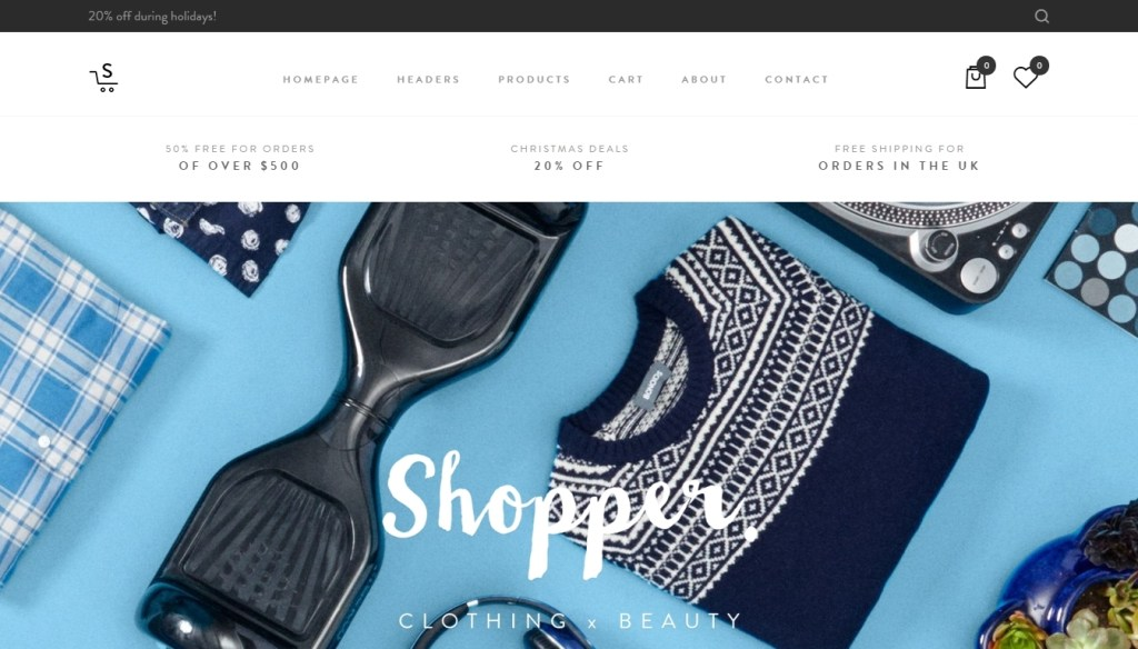 cute elegant clothing store WordPress themes 2016