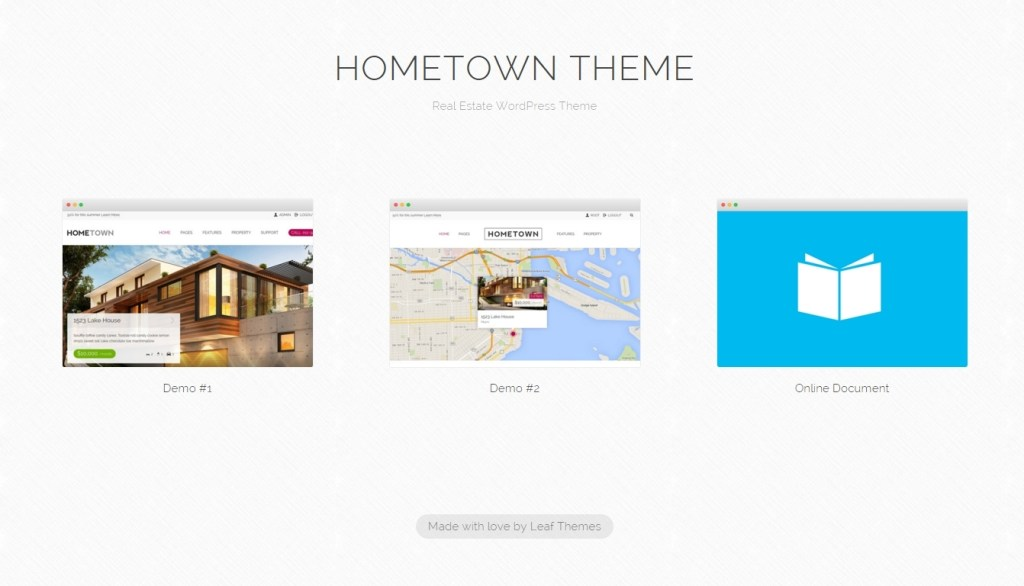 Real estate wordpress templates
