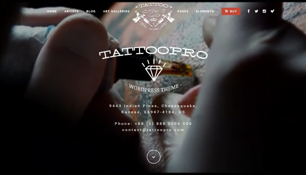 the very best tattoo wordpress theme for your tattoo studio 2016