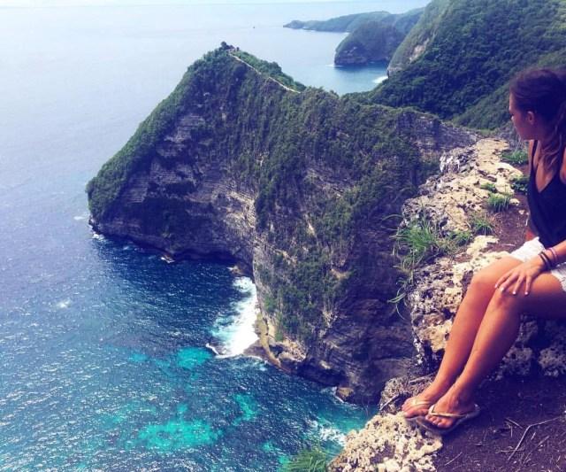 Danica Djermor op een berg