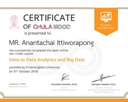 Certificate intro Data Analytics and Big Data