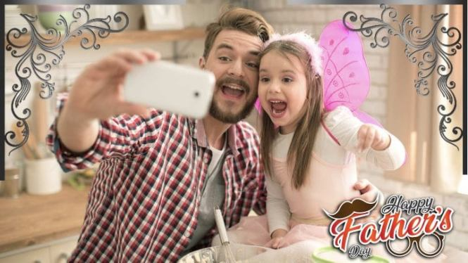 Happy Fathers Day Toni Tails Profile Frame