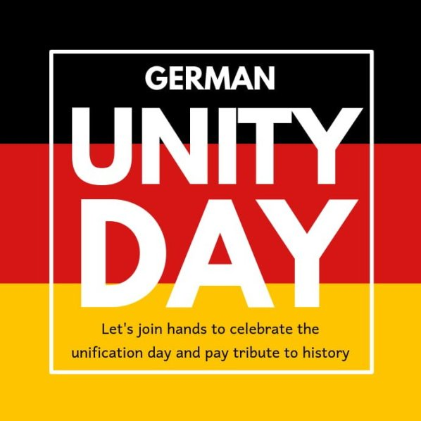 German Unity Day Profile Picture Frame