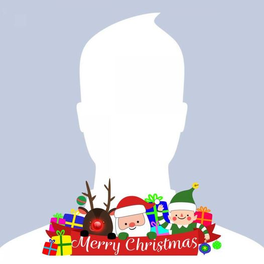 Merry Christmas Profile Frame By Toni Tails