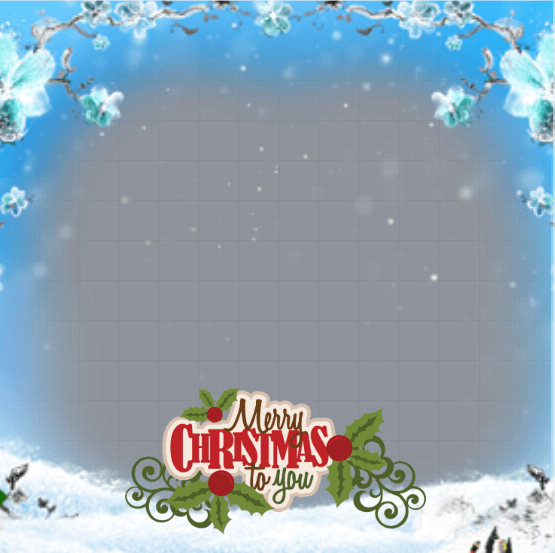 Merry Christmas Profile Frame