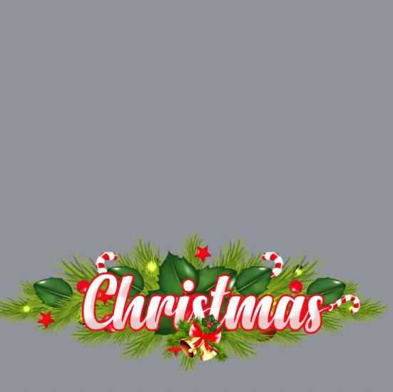 Pine Garland Christmas Profile Frame