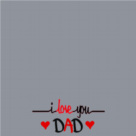 I Love You Dad Profile Frame