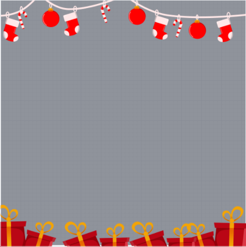 Christmas Decorations Profile Frame