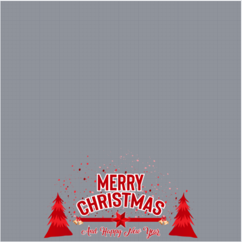 Merry Christmas And Happy New Year Frame