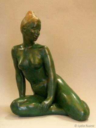 Femme Boudha Verte