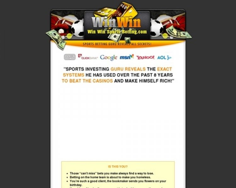 Sports Betting System | Win Win Sports Betting Finally Here !!!