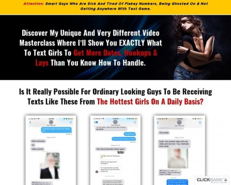 New: Text Game Decoded – 100% Commission Full Funnel