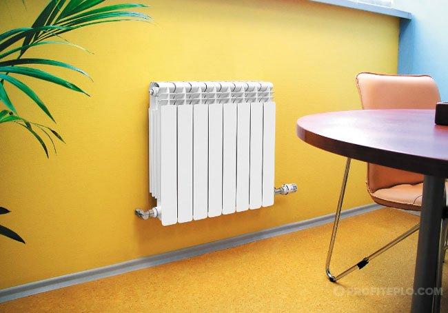 Bimetallic radiator.