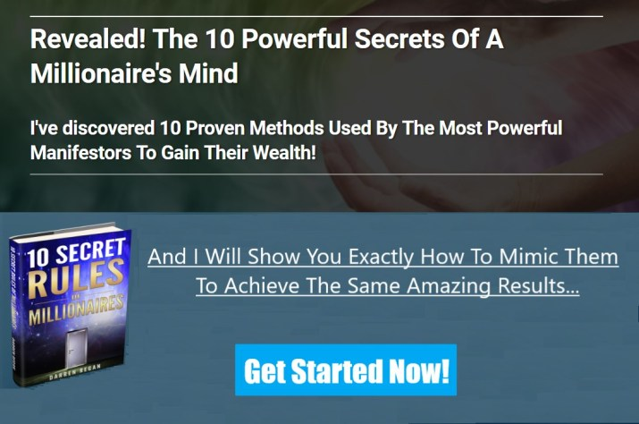 Free Guide on 10 Secret Rules of a Millionaire Mind!
